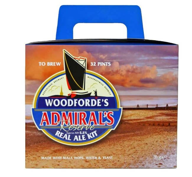 woodfordes admirals reserve real ale kit