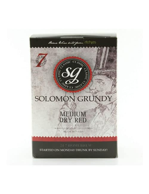 Solomon Grundy Medium Dry red