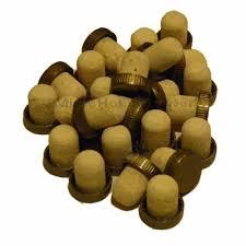 gold  plastic flange corks