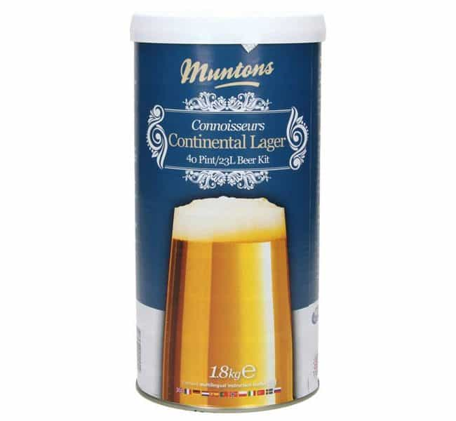 muntons connoisseurs continental lager beer kit