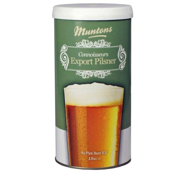 muntons connoisseurs export pilsner beer kit