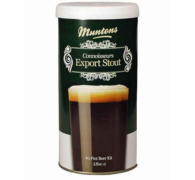 muntons connoisseurs export stout beer kit
