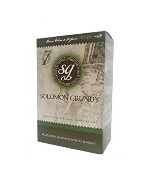 Solomon Grundy Country Wines 6 Bottles