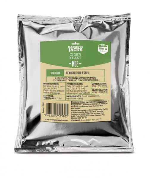 cider yeast mangrove jacks 100gm
