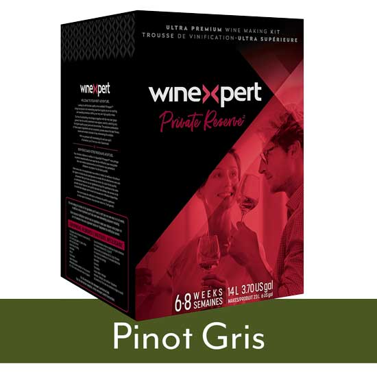 Private Reserve Pinot Gris wine kit
