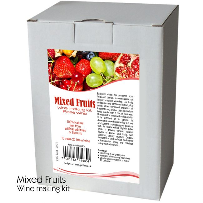 Mixed fruits wine kit 20l