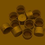 gold screw caps